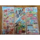 Korea Cute Bubble Stickers, 6 sheets
