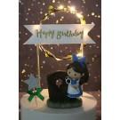 Happy Birthday Light Up Cake Banner Decoration