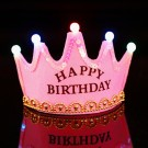 Light-Up Happy Birthday Pink Crown