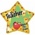 "18"" A Star Teacher Foil Balloon"