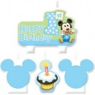 Mickey Mouse 1st Birthday Candles 4pcs