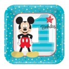 1st Birthday Mickey Mouse Dessert Plates 8pcs