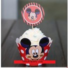 Mickey Cupcake skirting and cupcake pics Set 12pcs
