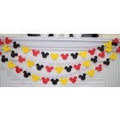 Mickey Head Deco Banners 3sets