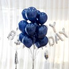 12in Pearl Midnight Blue Latex Balloons