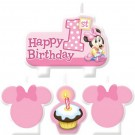 Minnie Mouse 1st Birthday Candles 4pcs
