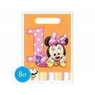 Minnie Mouse 1st Birthday Favor Bags 8pcs
