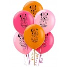 "12"" Minnie Mouse 1st Birthday Latex Balloons"