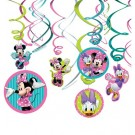 Minnie Mouse Swirl Decorations 12pcs