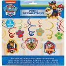 PAW Patrol Swirl Decorations 12pcs