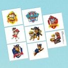 Paw Patrol Tattoos 1 Sheet 8pcs