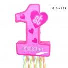 Pink 1st Pull String Piñata