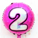 "18"" Pink Shinny #2 Foil Balloon"