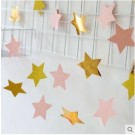Pink with Gold Star Garland
