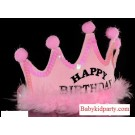 Happy Birthday Pink Crown