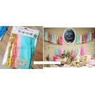 Seafoam Green Theme Paper Tassels Garland 20pcs set