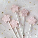Pink Star Shimmering Cake Picks