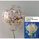 12in Pink Theme Confetti Latex Balloon 1pc