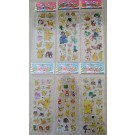 Pokemon Bubble Stickers, 6 sheets