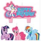 My Little Pony Birthday Candles 4pcs