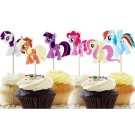 My Little Pony Cupcake Pics 12pcs