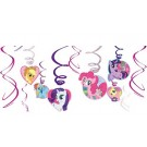 My Little Pony Swirl Decorations 12pcs