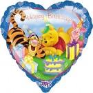 18in Winnie the Pooh & Tigger Happy Birthday