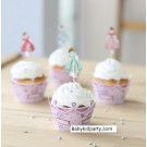 Princess Cupcake skirting and cupcake pics Set 12pcs