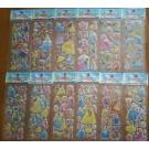 Princess Bubble Stickers, 6 sheets