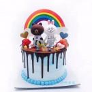 Rainbow Banner for Cake