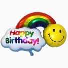 28in Rainbow Happy Birthday Foil Balloon