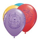 "11"" Qualatex Winnie the Pooh 1st Birthday Assortment"