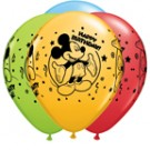 "11"" Qualatex Mickey Happy Birthday Assortment"
