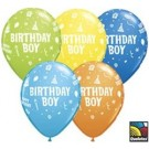 "11"" Qualatex Birthday Boy Assortment"