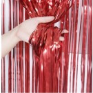 Red Streamer Foil Curtains
