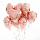 9pcs Heart Shaped Balloon Bundle