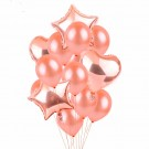 Pearl Rose Gold Foil and Latex Balloons Bouquet