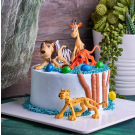 Safari's World 6 Pieces Cake Topper Set