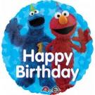 "18"" Sesame Street Fun Happy Birthday Foil Balloon"