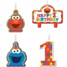 Sesame Street Turn One Birthday Candle Set