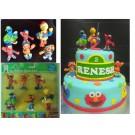 Sesame Street Cake Topper 6pcs figuring set