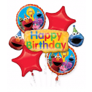 Sesame Street Birthday Balloon Bouquet