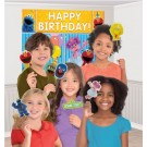 Sesame Street Scene Setter with 12pcs Photo Props
