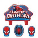 Spiderman Birthday Candle Set (4 pcs)