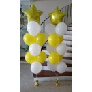 Star Foil with 10 latex Balloon Bouquet