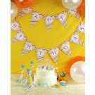 Coloured Striped Happy Birthday Flag Banner