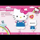 28in Hello Kitty Blue Foil Balloon