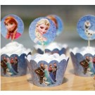 Frozen Cupcake skirting and cupcake pics Set 12pcs
