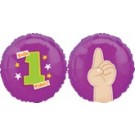 "18"" Happy First Birthday #1 Foil Balloon"