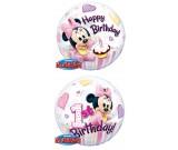 22in BUBBLES Minnie 1st Birthday Balloon